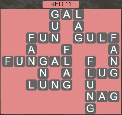 Wordscapes Marsh Red 11 - Level 2203 Answers
