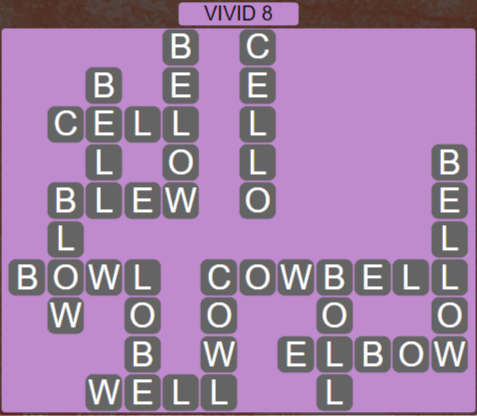 Wordscapes Marsh Vivid 8 - Level 2216 Answers