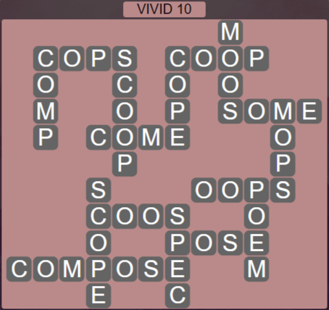 Wordscapes Marsh Vivid 10 - Level 2218 Answers
