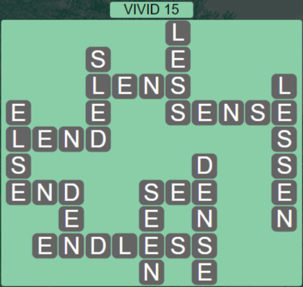 Wordscapes Marsh Vivid 15 - Level 2223 Answers