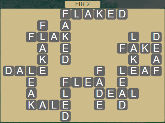 Wordscapes Woods Fir 2 - Level 2242 Answers