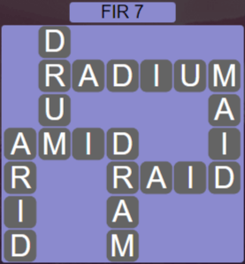 Wordscapes Woods Fir 7 - Level 2247 Answers