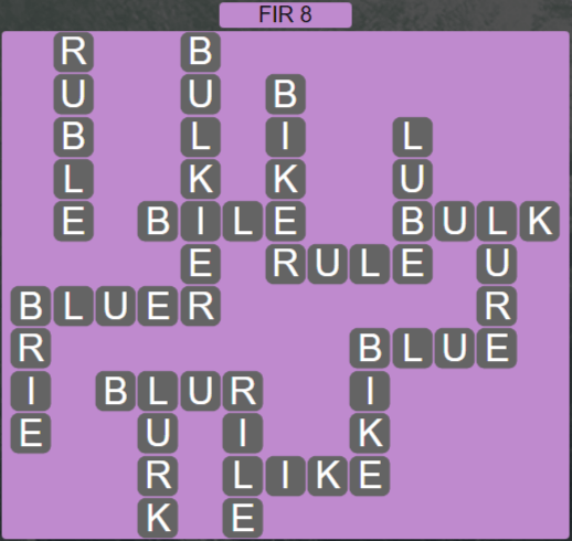 Wordscapes Woods Fir 8 - Level 2248 Answers