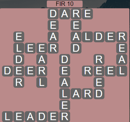 Wordscapes Woods Fir 10 - Level 2250 Answers