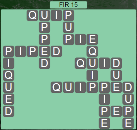 Wordscapes Woods Fir 15 - Level 2255 Answers