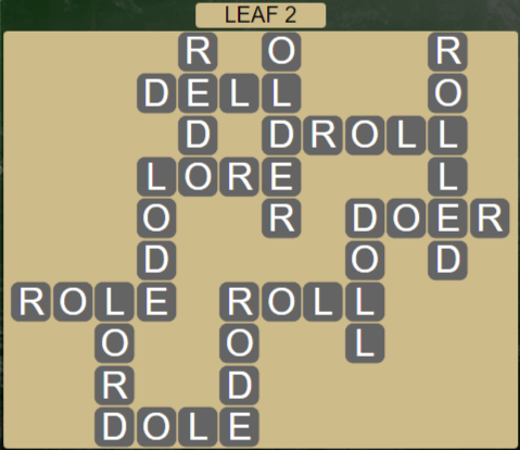 Wordscapes Woods Leaf 2 - Level 2258 Answers