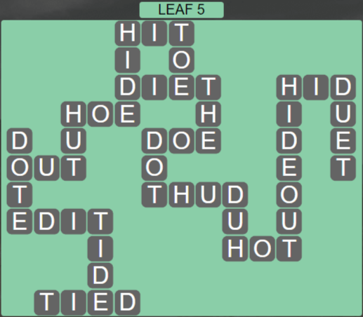 Wordscapes Woods Leaf 5 - Level 2261 Answers
