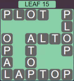 Wordscapes Woods Leaf 15 - Level 2271 Answers