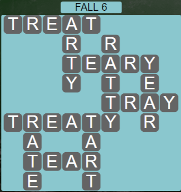 Wordscapes Woods Fall 6 - Level 2278 Answers