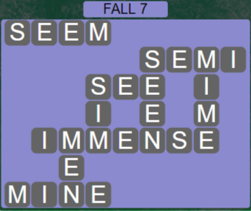 Wordscapes Woods Fall 7 - Level 2279 Answers