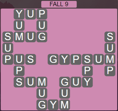 Wordscapes Woods Fall 9 - Level 2281 Answers