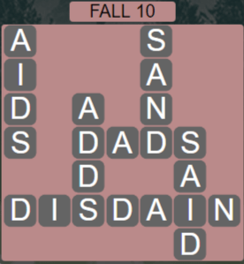 Wordscapes Woods Fall 10 - Level 2282 Answers
