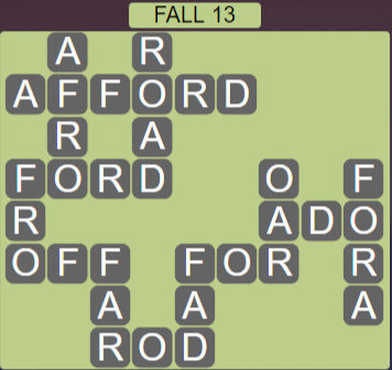 Wordscapes Woods Fall 13 - Level 2285 Answers