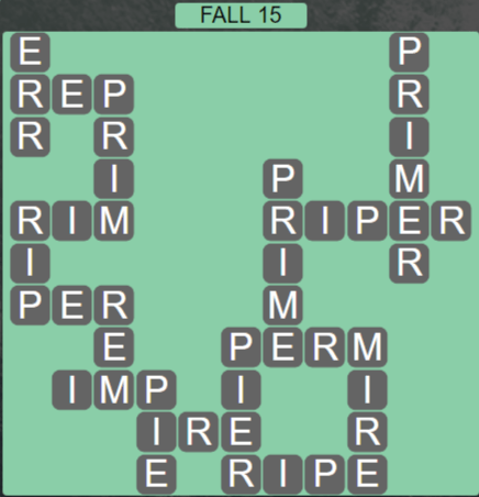 Wordscapes Woods Fall 15 - Level 2287 Answers