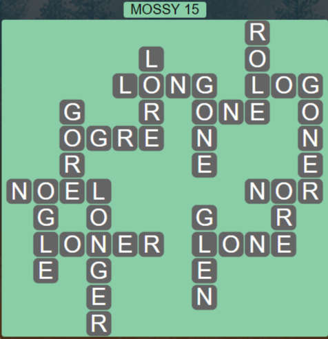 Wordscapes Woods Mossy 15 - Level 2303 Answers