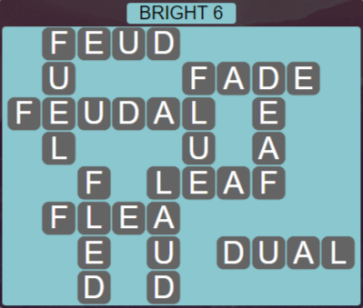 Wordscapes Woods Bright 6 - Level 2310 Answers