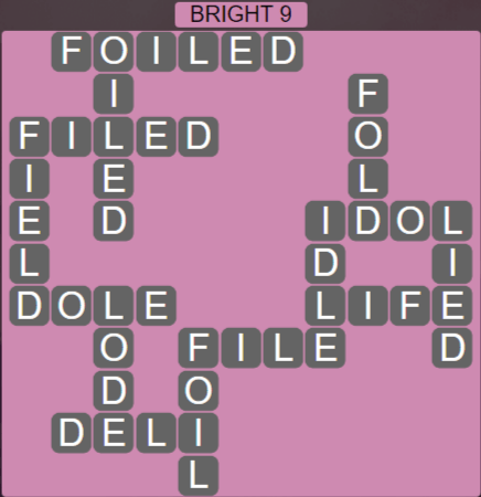 Wordscapes Woods Bright 9 - Level 2313 Answers