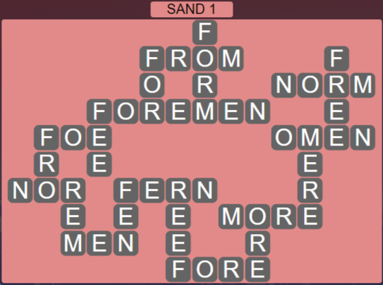 Wordscapes Arid Sand 1 - Level 2337 Answers