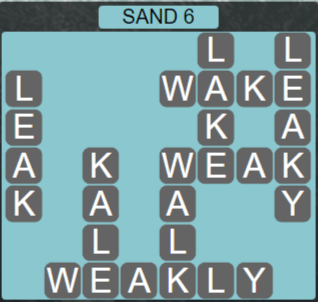 Wordscapes Arid Sand 6 - Level 2342 Answers