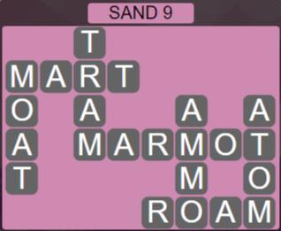 Wordscapes Arid Sand 9 - Level 2345 Answers