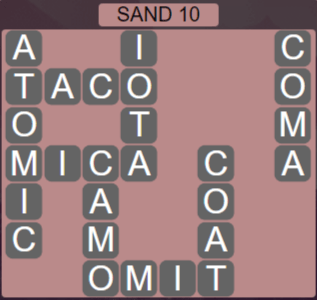 Wordscapes Arid Sand 10 - Level 2346 Answers