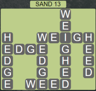Wordscapes Arid Sand 13 - Level 2349 Answers