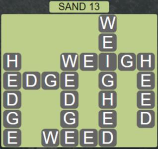Wordscapes Arid Sand 13 - Level 2349 Answers