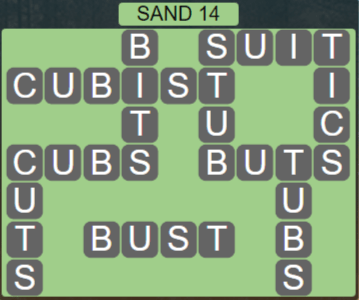 Wordscapes Arid Sand 14 - Level 2350 Answers