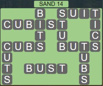 Wordscapes Arid Sand 14 - Level 2350 Answers