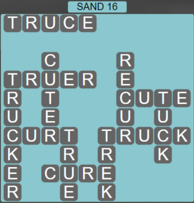 Wordscapes Arid Sand 16 - Level 2352 Answers