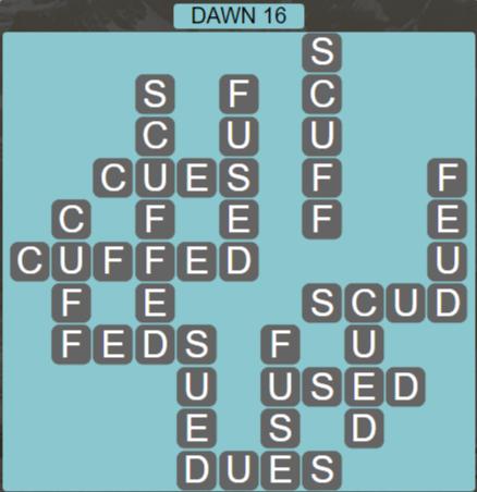 Wordscapes Arid Dawn 16 - Level 2368 Answers