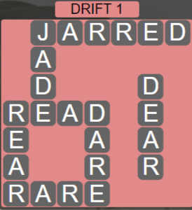 Wordscapes Arid Drift 1 - Level 2369 Answers