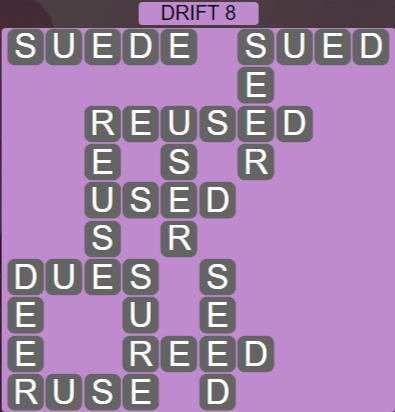 Wordscapes Arid Drift 8 - Level 2376 Answers