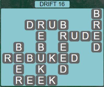 Wordscapes Arid Drift 16 - Level 2384 Answers