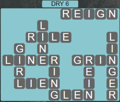 Wordscapes Arid Dry 6 - Level 2390 Answers