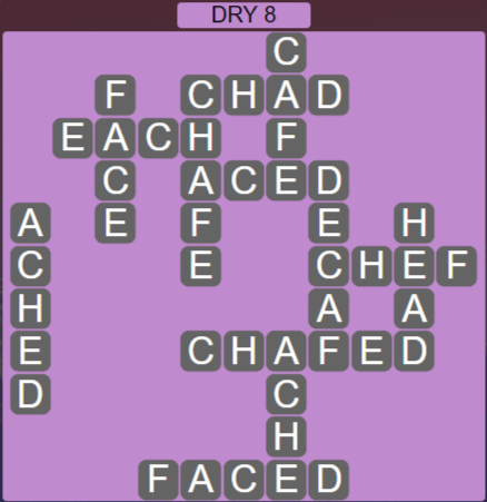 Wordscapes Arid Dry 8 - Level 2392 Answers
