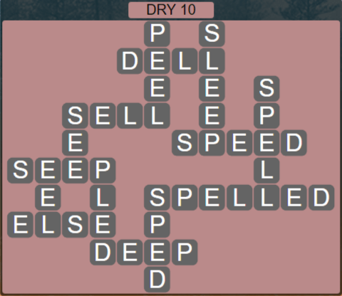 Wordscapes Arid Dry 10 - Level 2394 Answers
