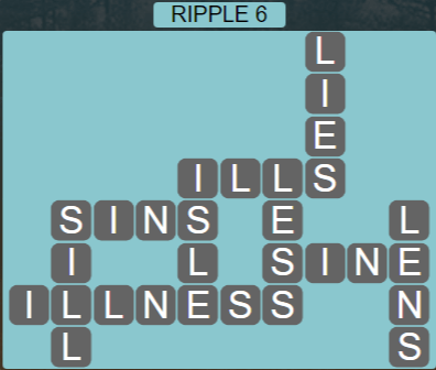 Wordscapes Tide Ripple 6 - Level 2406 Answers