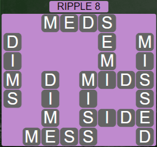 Wordscapes Tide Ripple 8 - Level 2408 Answers