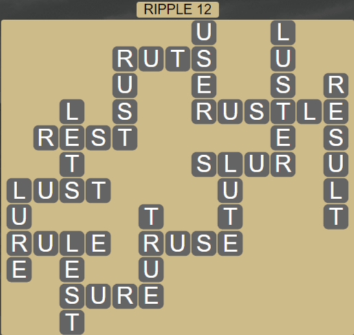 Wordscapes Tide Ripple 12 - Level 2412 Answers