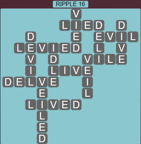 Wordscapes Tide Ripple 16 - Level 2416 Answers
