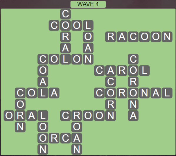 Wordscapes Tide Wave 4 - Level 2420 Answers