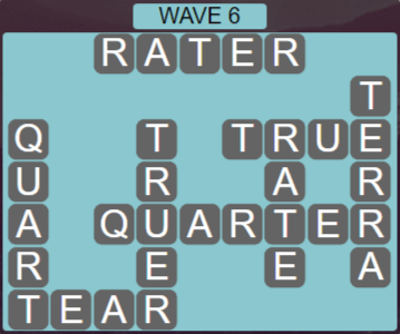 Wordscapes Tide Wave 6 - Level 2422 Answers
