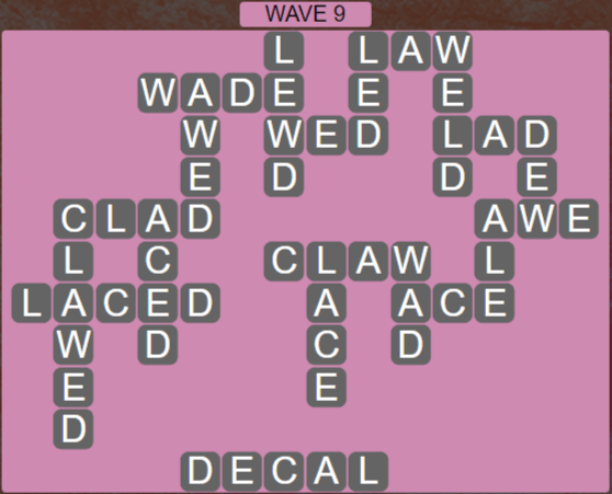 Wordscapes Tide Wave 9 - Level 2425 Answers