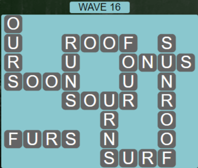 Wordscapes Tide Wave 16 - Level 2432 Answers