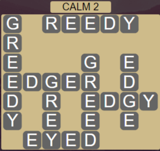 Wordscapes Tide Calm 2 - Level 2434 Answers