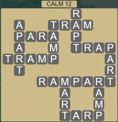 Wordscapes Tide Calm 12 - Level 2444 Answers