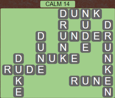 Wordscapes Tide Calm 14 - Level 2446 Answers