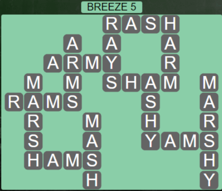 Wordscapes Tide Breeze 5 - Level 2453 Answers
