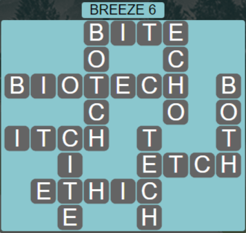 Wordscapes Tide Breeze 6 - Level 2454 Answers